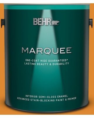 BEHR MARQUEE 1 gal. #280B-7 Status Bronze Semi-Gloss Enamel Interior Paint and Primer in One