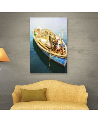 "Breakwater Bay 'Old Fishermans Boat' Photographic Print on Wrapped Canvas BKWT2922 Size: 24"" H x 36"" W"