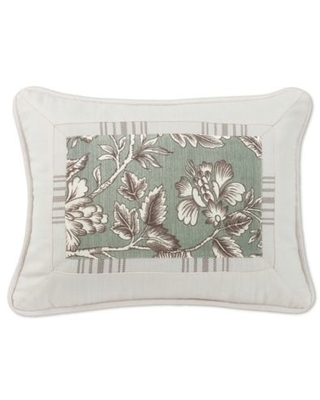 HiEnd Accents Gramercy Printed Oblong Throw Pillow in Green