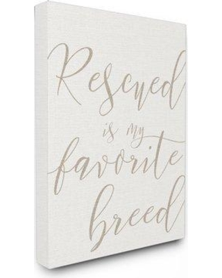 """Wrought Studio 'Rescued is My Favorite Breed Pet' Textual Art VRKG8246 Size: 20"""" H x 16"""" W Format: Wrapped Canvas"""