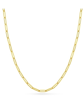 """Jared The Galleria Of Jewelry Paper Clip Chain Necklace 14K Yellow Gold 20"""""""