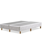 Greaton-8 inch Traditional Split Wood Box Spring / Foundation with Legs for Mattress, Queen Size