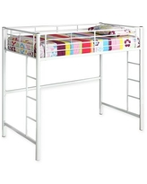 Forest Gate Riley Twin Metal Loft Bed in White