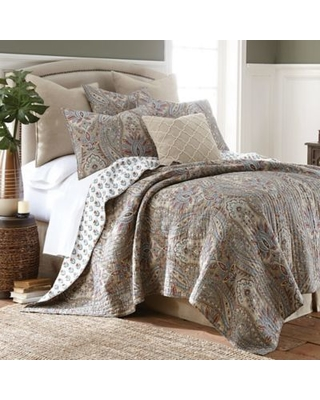 Levtex Home Kasey Reversible King Quilt Set in Taupe