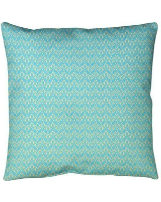 """Ebern Designs Leffel Art Deco Floor Pillow, Polyester/Polyfill/Synthetic in Blue/Yellow Ombre, Size 28"""" x 28""""   Wayfair"""
