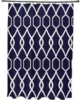 e by design Charleston Geometric Print Shower Curtain SCGN235 Color: Spring Navy