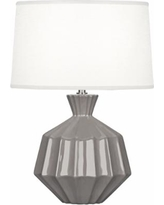 "Robert Abbey Orion 17 3/4""H Smokey Taupe Ceramic Accent Lamp"