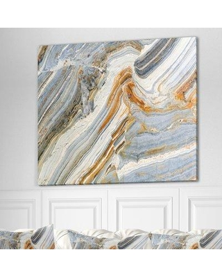 """East Urban Home Stone 'Colorful Rock Artwork' Graphic Art Print on Wrapped Canvas ETUC0394 Size: 30"""" H x 40"""" W x 1.5"""" D"""