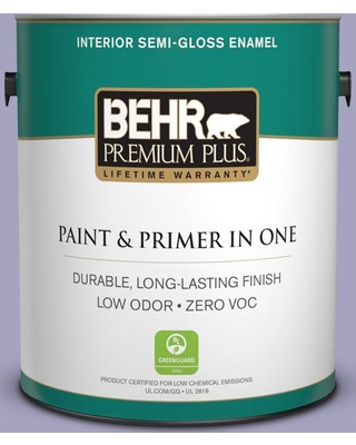 BEHR Premium Plus 1 gal. #640D-4 Canyon Mist Semi-Gloss Enamel Low Odor Interior Paint and Primer in One