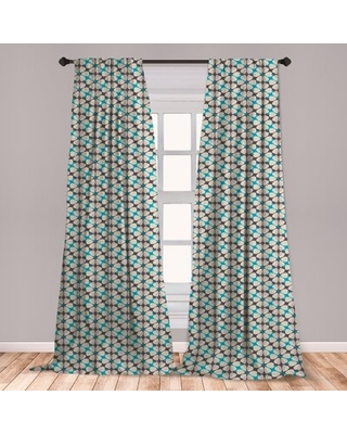 "Floral Room Darkening Rod Pocket Curtain Panels East Urban Home Size per Panel: 28"" x 84"""