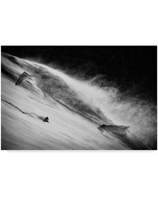 """Trademark Art 'Race against The Wind' Photographic Print on Wrapped Canvas 1X05574-CGG Size: 16"""" H x 24"""" W x 2"""" D"""