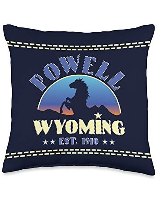 Don T Miss Deals On Wyoming Wild West Gifts Powell Wyoming Est 1910 Wild Horses Throw Pillow 16x16 Multicolor