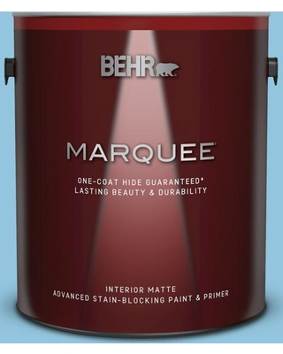 BEHR MARQUEE 1 gal. #550D-4 Caribbean Coast Matte Interior Paint and Primer in One