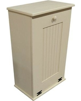 Rebrilliant Manual Solid Pull Out Trash Can in Small REBR2066 Color: Cream