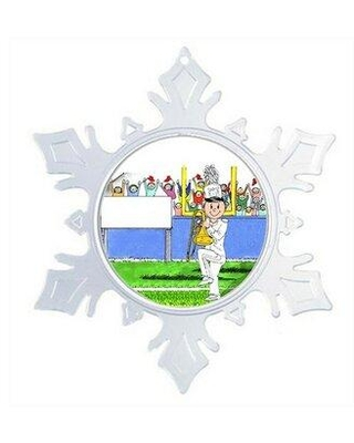 The Holiday Aisle Personalized Friendly Folks Cartoon Snowflake Marching Band Trombone Christmas Holiday Shaped Ornament X112139925