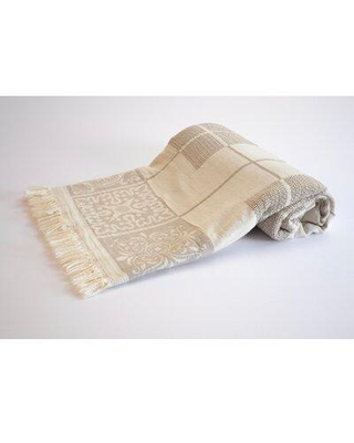 Bungalow Rose Highlawn Seville Cotton Throw W002544885 Color: Beige