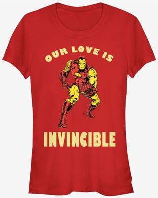Marvel Ironman Our Love Is Invincible Valentine Girls T-Shirt
