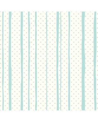 """Wrought Studio Rummel All Mixed Up 16.5' L x 20.5"""" W Stripes Peel and Stick Wallpaper Roll VRKG7655 Color: Silver/Teal"""