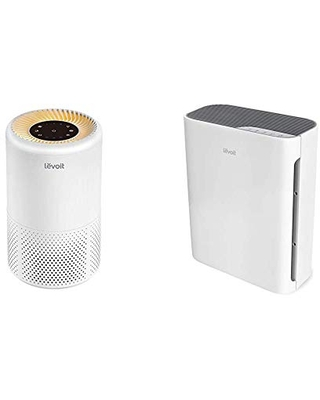 LEVOIT Air Purifiers for Home Allergies and Pets Hair, H13 True HEPA Air Purifier Filter & Air Purifier for Home with H13 True HEPA Filter Cleaner for Allergies and Pets, Vital 100, 1-Pack, White
