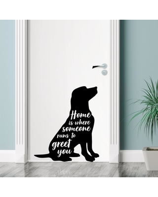 Wall Pops Black Home is Where Someone Wall Decal