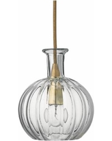 "Sophia 6 1/4"" Wide Clear Glass with Brass Mini Pendant"