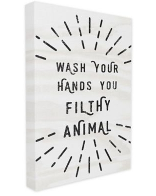 Wash Your Hands You Filthy 24-Inch x 30-Inch Canvas Wall Art