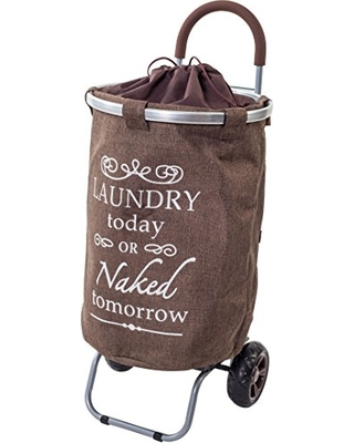 Bargains On Laundry Trolley Dolly Brown Laundry Bag
