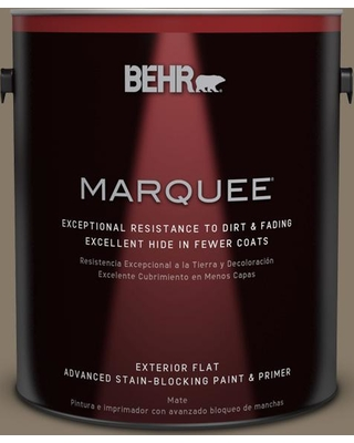BEHR MARQUEE 1 gal. #740D-6 Mountain Elk Flat Exterior Paint and Primer in One