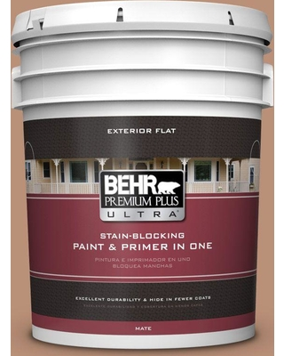 BEHR Premium Plus Ultra 5 gal. #BXC-46 Mojave Dusk Flat Exterior Paint and Primer in One