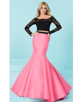 Tiffany Designs - 16240 Scalloped Off Shoulder Mermaid Gown