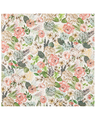 New Sales Are Here 64 Off Earth Tone Floral Scrapbook Paper 12 X 12