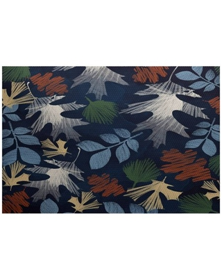 Simply Daisy 3' x 5' Watercolor Leaves Floral Print Indoor/Outdoor Rug