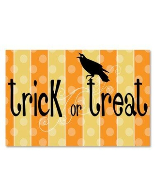 """Trademark Fine Art 'Trick or Treat Banner' Photographic Print on Canvas ALI3290-C Size: 12"""" H x 19"""" W x 2"""" D"""