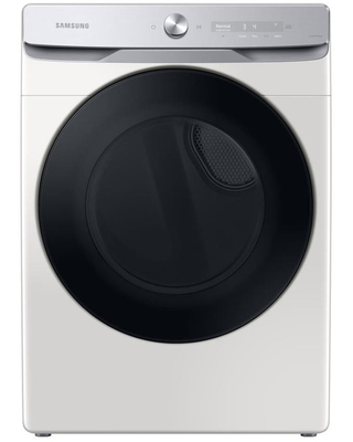 Samsung 7.5-cu ft Reversible Side Swing Door Stackable Steam Cycle Gas Dryer (Ivory) ENERGY STAR   DVG50A8600E