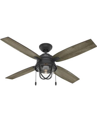 Gazelle 52in LED Indoor Outdoor Natural Iron Ceiling Fan with Light Kit Outdoor