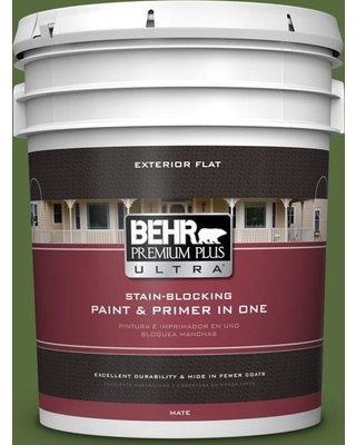 BEHR Premium Plus Ultra 5 gal. #410D-7 Mountain Forest Flat Exterior Paint and Primer in One