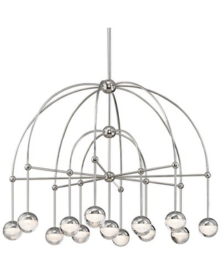 Brubaker 13 - Light Unique / Statement Classic / Traditional Chandelier George Oliver Finish: Polished Nickel