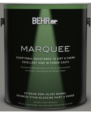 BEHR MARQUEE 1 gal. #PPU24-07 Barnwood Gray Semi-Gloss Enamel Exterior Paint and Primer in One