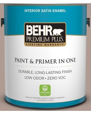BEHR Premium Plus 1 gal. #N170-4 Coffee with Cream Satin Enamel Low Odor Interior Paint and Primer in One