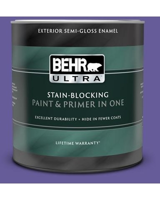 BEHR ULTRA 1 qt. #P560-6 Just a Fairytale Semi-Gloss Enamel Exterior Paint and Primer in One