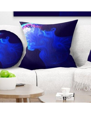 """East Urban Home Animal Jellyfish in Ocean Pillow FUSI5923 Size: 16"""" x 16"""" Product Type: Throw Pillow"""