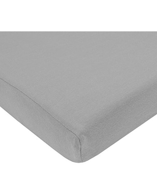 American Baby Co. Cotton Jersey Knit Fitted Crib Sheet, Grey