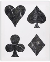 "Kavka 'Black Marble Playing Cards' Graphic Art Print on Wrapped Canvas KAVK5999 Size: 20"" H x 16"" W x 2"" D"