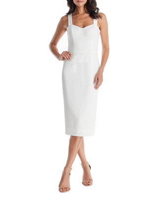 Women's Dress The Population Nicole Sweetheart Neck Cocktail Dress, Size XX-Small - Ivory