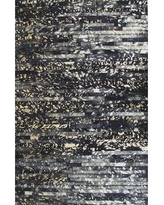 Modern Rugs Patchwork Galaxy Stripe Black Area Rug patchw5-77 Rug Size: Rectangle 3' x 5'
