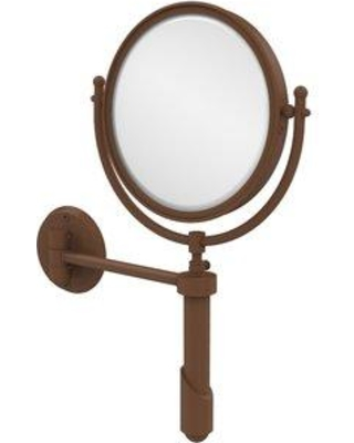"""Allied Brass 8"""" Extendable Wall Mirror with Magnification SHM-8/ Magnification: 4x Finish: Antique Copper"""