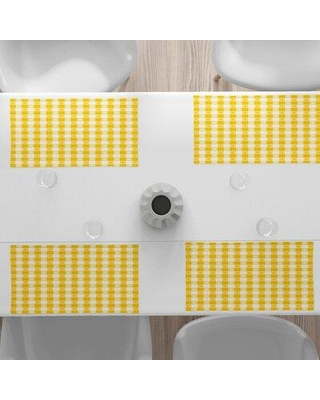 """East Urban Home 18.5"""" Placemat, Polyester in Yellow, Size 12""""H X 18""""W 