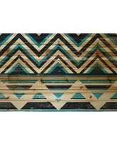 "Marmont Hill 'Blue and Black' Print on Wood MH-GEWDCU-512-BDW Size: 12"" H x 18"" W"