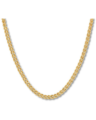 d1d0a226bd4c7 Jared The Galleria Of Jewelry Double Rope Chain Necklace 10K Yellow Gold  18