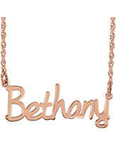 Personalized 30mm Name Necklace, One Size , Pink